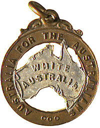 """Australia for the Australians"" - A slogan used in 1906"