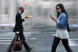 Even the rat race is being invaded by the smartphone epidemic. (Credit: theatlanticcities.com)